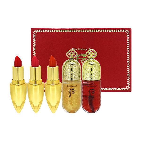 Picture of The History Of Whoo后 Gongjinhyang Mi Lip Rouge +Lip Essence 5pcs Set