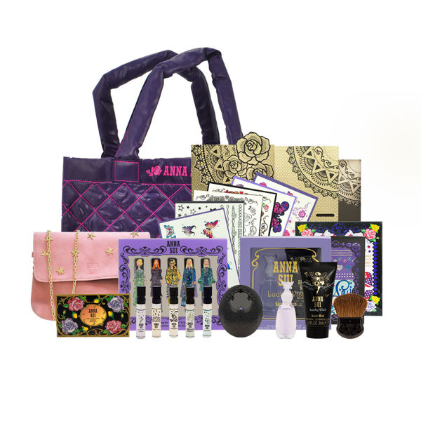 Picture of Anna Sui Limited Edition Set 03  (Tatoo Sticker+Perfume set +Tote Bag +Blush & Case)